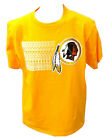 Washington Redskins Football Adult Redskins Repeat Short Sleeve Shirt Gold New