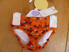 MARKS AND SPENCER ORANGE RED FISH PRINT SWIM TRUNKS WITH INTEGRAL NAPPY 3 6 MO