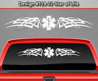 Design #129-02 STAR OF LIFE Rear Window Decal Sticker Graphic Paramedic Tribal
