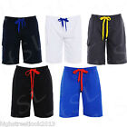 Mens Cotton Summer Beach Surf Board Swim Mian Cargo Combat Shorts S M L XL XXL