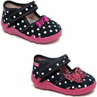 Girls canvas shoes slippers trainers sandals baby kids toddler size 3 - 7.5 UK