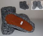 New Ladies Mens Sheep Fleece Wool Leather House Slippers Sheepskin All Sizes