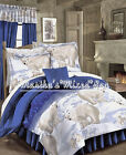 POLAR BEAR Arctic Cabin LODGE Blue Comforter Set +Sheets ...