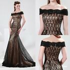 2015 Vintage Lace Long Formal Evening Prom Dress Bridesmaid Wedding Gown Dresses
