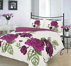 Complete 4Pc Duvet Cover With Fitted Valance Sheet Pillow Single Double King