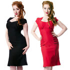 Steady Clothing Allison Wiggle Dress Rockabilly Pin Up Retro Pencil Bombshell