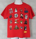 Star Wars Boys Red T-Shirt New Luke Skywalker Darth Vader Yoda Han Solo AT-AT $7.99 USD on eBay