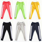 Kids Girls Boys Candy Colorful Cotton Casual Sweatpants Trousers Leggings 2-15Y