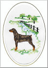 Dobermann Birthday Card Embroidered by Dogmania