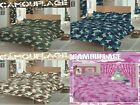 ARMY CAMOUFLAGE DUVET QUILT COVER & PILLOWCASE BEDDING BED LINEN SET