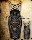 NEW IVORY CREAM POLKA DOT LACE PENCIL WIGGLE DRESS VINTAGE 50' ROCKABILLY GOTH