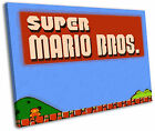 Super Mario Bros Nintendo Retro Gaming Framed Canvas Wall Art Picture Print