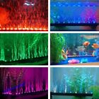 Aquarium Fish Tank Underwater Submersible Air Bubble Safe LED Lights With Plug