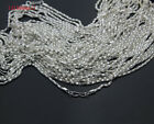 Pick! 20/50/100pc Silver&Gold Plated Hollow Snake Chain Necklace w/Clasp,8K16.5*