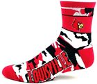 Louisville Cardinals Camo Quarter Socks New