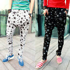 Free Shipping Chic Patterns Men Casual Baggy Loose Harem Pants Trousers XS/S/M/L