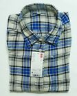 UNIQLO WOMEN FLANNEL CHECK LONG SLEEVE SHIRT Blue (134359)