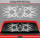 Design #101-02 Horse Horseshoe Rear Window Decal Sticker Graphic Tribal Truck