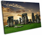 Stonehenge Sunset Framed Canvas Wall Art Picture Print
