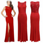Womens Party Evening  Cocktail Long slit Wedding Prom Dress plus size 6810246