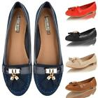 Womens Ladies Loafers Tassel Flat Casual Moccasin School Office Work Pumps Shoes