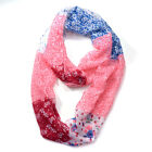 Women Long Soft Neck Wrap Shawl Scarf Floral Patchwork Pattern Infinity Scarf