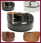 MEN'S CASUAL DRESS JEANS GENUINE LEATHER BELT 1 1/2
