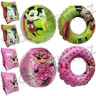 MINNIE MICKEY MOUSE BEACH BALL ARMBANDS SWIMMING RING INFLATABLES WATER TOYS