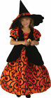 Shirley Pocket  Witch Toddler Child Costume Orange Black ...