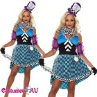 Ladies Mad Hatter Fancy Dress Up Tea Party Alice In Wonderland Hens Costume