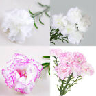 Artificial Silk Carnation Bouquet Flowers Plants for Wedding Party Home Decor