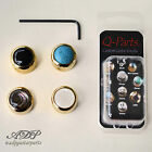 1x BOUTON METAL Q-Parts DOME Custom GUITAR KNOB GOLD Pearl Abalone, Acrylic TOP