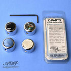 1x BOUTON METAL Q-Parts DOME Custom GUITAR KNOB CHROME Pearl Abalone Acrylic TOP