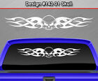Design #143-01 Skull Rear Window Decal Sticker Vinyl Graphic Tribal Flame Car