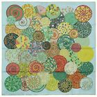 Authentic Hermes Silk Scarf REVES D'ESCARGOTS Green Christine Henry