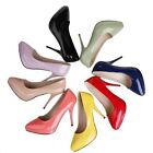 Women Fashion Pumps Slim HIgh Heel Shiny Sexy Shoes Pointy Party AU Size s267