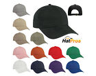 Plain Garment Washed Low Profile Cotton Twill Baseball Cap Black Adjustable Hat