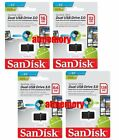 Sandisk Ultra Dual OTG 16GB 32GB 64GB 128GB USB3.0 Micro USB Drive lot Flash US