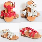 TODDLERS GIRLS BABIES SUMMER STRAPPY SANDALS GLADIATORS FLOWER SHOES SIZE 4-12