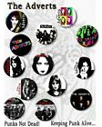 """THE ADVERTS- GAYE ADVERT/PUNK LEGENDS/ 25 MM/ 1 """" BUTTON BADGE"""