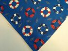 Dog Bandana Tie On Blue Nautical Life SaversCustom Made by Linda XS S M L XL