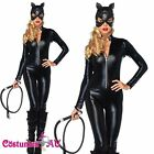 Ladies Sexy Catwoman Cat Woman Costume Halloween Cat Lady Girl Fancy Dress