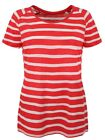 Loose Knit Raglan Red and White Stripe Women's T-shirt