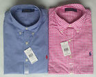 Mens Ralph Lauren Polo Custom Fit Gingham Check Poplin Shirt - Pink
