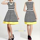 New Sexy Women Summer Sleeveless Evening Party Cocktail Casual Stripe Dress