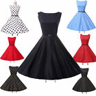 Audrey Hepburn 50s 60s Rockabilly Vintage Swing Party Prom Cocktail Dress + Belt