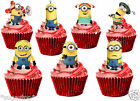 22 x Despicable Me Minions STAND UP Edible Decorations Wafer Cup Cake Toppers