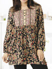 ULLA POPKEN Che Long Sleeve Garden Embroidered Tunic Top Size 12/14 LAST ONE
