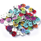Lot of 10 LADYBUG 2-hole Wooden Knopf Button 18 x 16mm Scrapbooking Doll (2532)