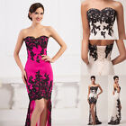 VINTAGE STYLE High-Low Fishtail Long Evening Prom Bridesmaid Cocktail Dress Gown